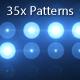 35 Flashlights Patterns Kit Blue - VideoHive Item for Sale