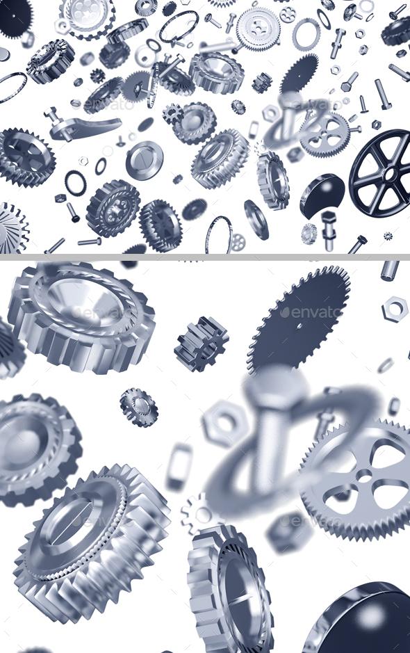 Mechanical Parts - 3D Backgrounds