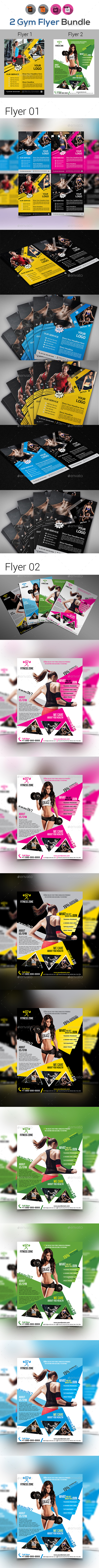 Fitness Flyer - Gym Flyer Bundle V3
