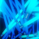 Blue Neon Lights Tunnel - VideoHive Item for Sale