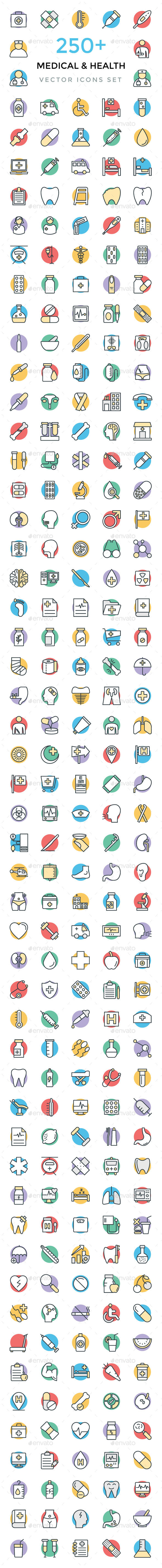 250+ Medical and Health Vector Icons - Icons