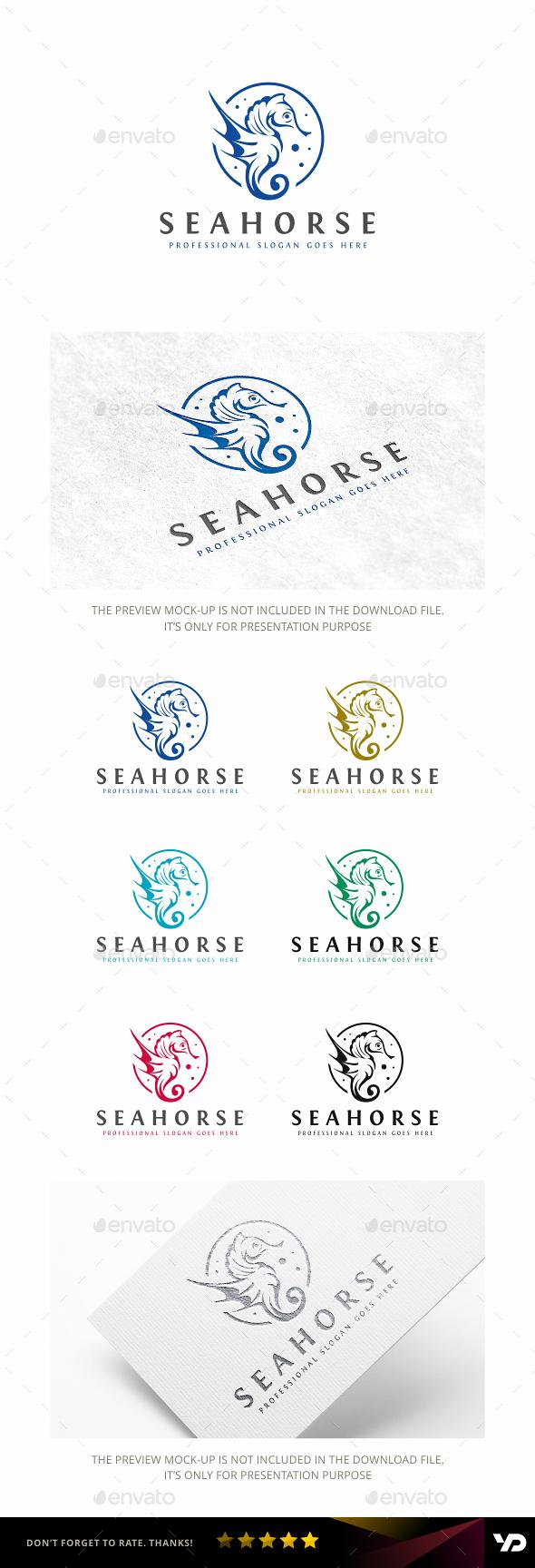 Seahorse - Animals Logo Templates