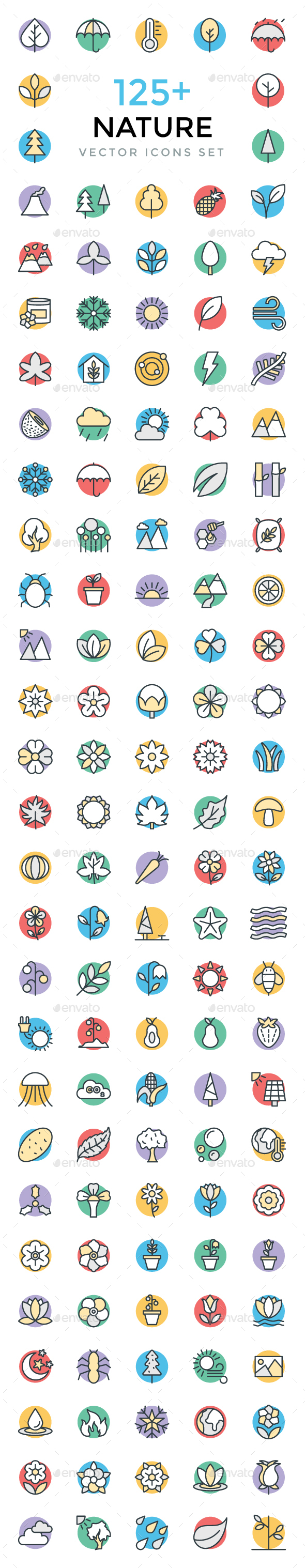 125+ Nature Vector Icons - Icons