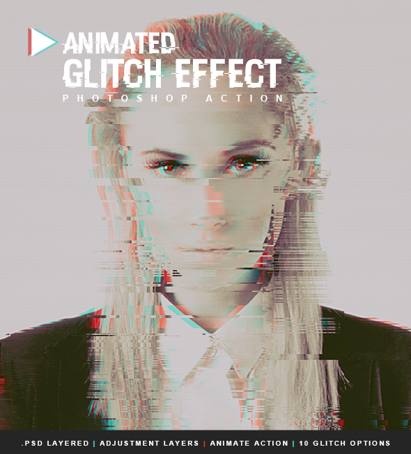 Animated Glitch Effect - Photo Effects Actions
