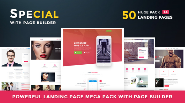 Special – Landing Page HTML Pack With Page Builder