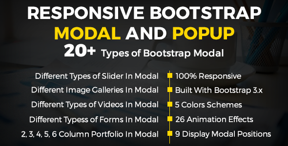 Responsive Bootstrap Modal And Popup - CodeCanyon Item for Sale