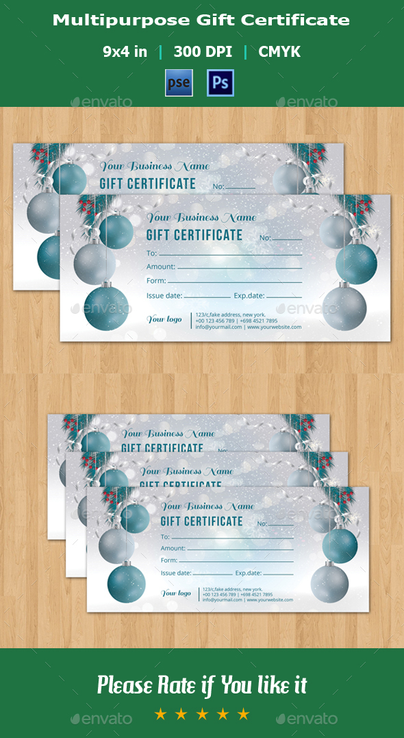 Gift Certificate Template - V02 - Stationery Print Templates