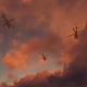 War Helicopters Flying Over The Ocean - Sunset - VideoHive Item for Sale