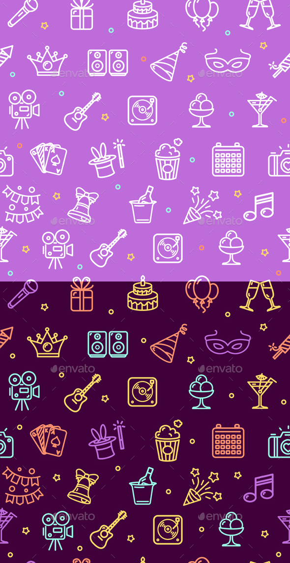Party Background Pattern. Vector - Patterns Decorative