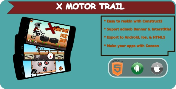X Motor Trail - HTML5 Mobile Game + Admob - CodeCanyon Item for Sale