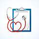 Medical Concept Stethoscope and Clipboard. Vector - GraphicRiver Item for Sale