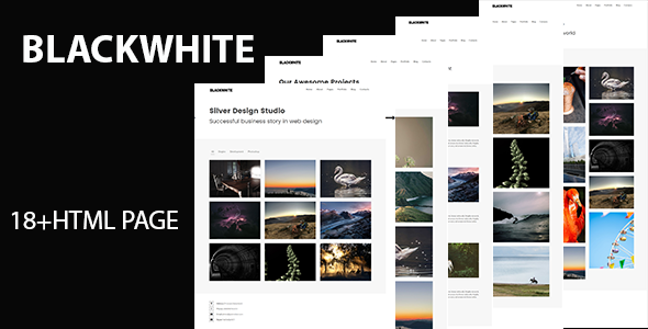 Blackwhite – Creative Portfolio Template