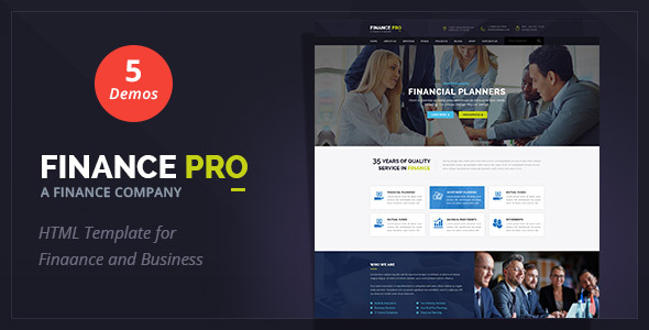 Finance Pro : Finance and Business HTML Template - Business Corporate