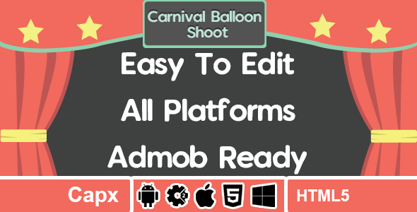 Carnival Balloon Shoot - AdMob - HTML5 - Construct 2 - CodeCanyon Item for Sale
