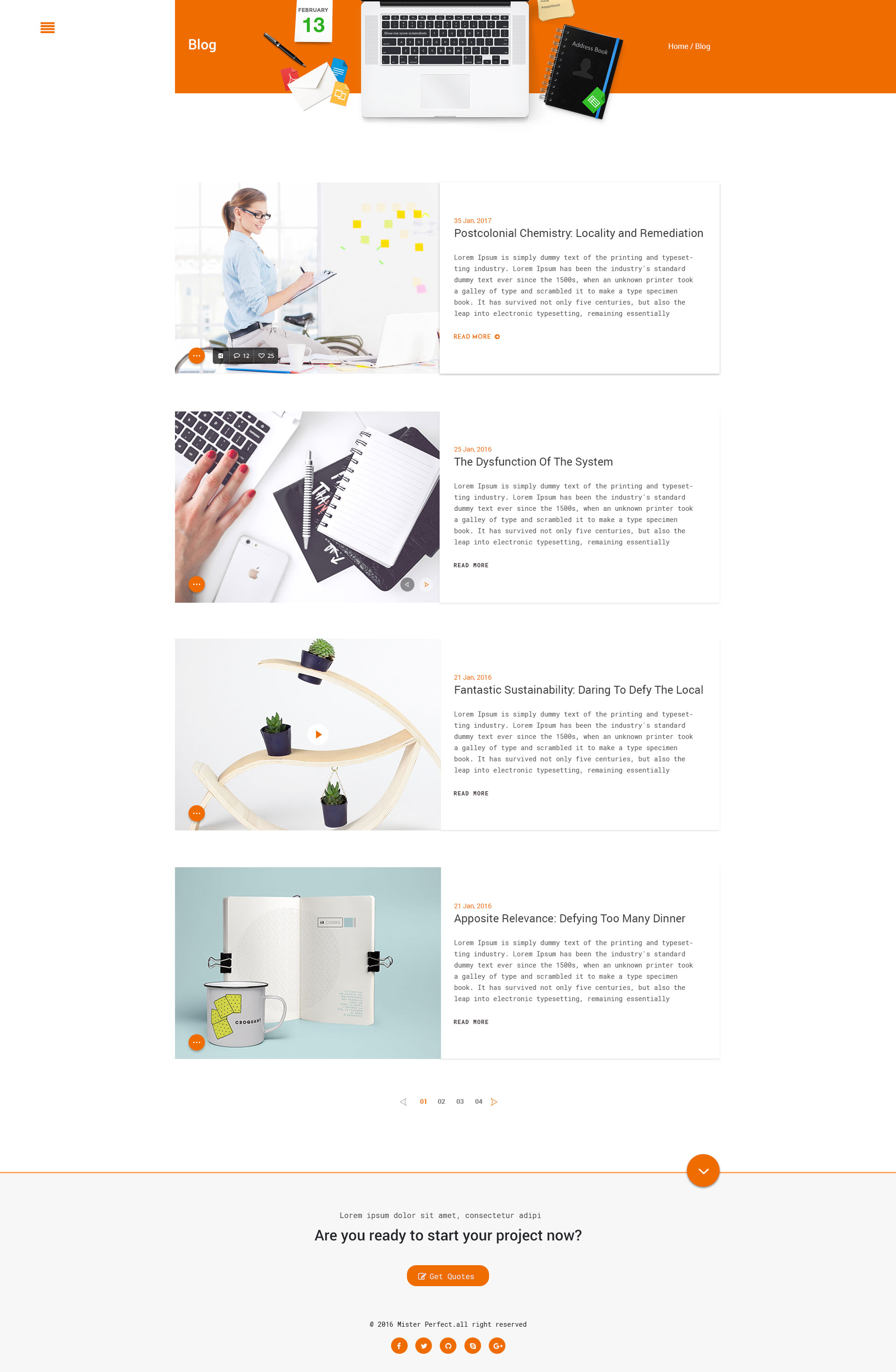 mister perfect minimal cv resume psd template by duezathemes