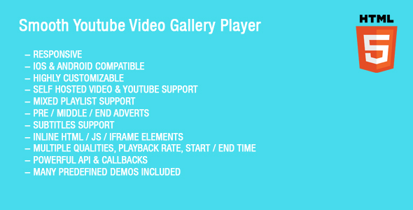 Smooth Youtube Video Gallery Player - CodeCanyon Item for Sale