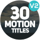 Motion Titles v2.0 - VideoHive Item for Sale