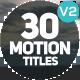 Motion Titles v2.0 - VideoHive Item for Sale