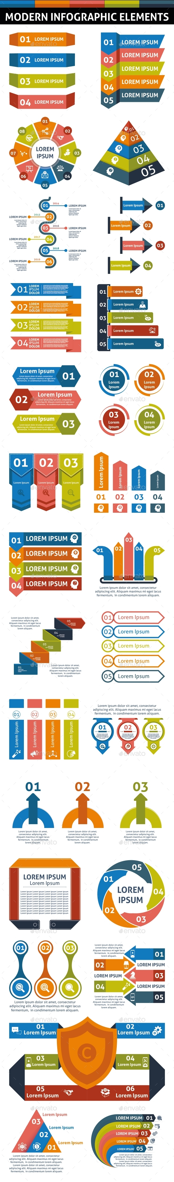 Modern Infographic Elements - Infographics
