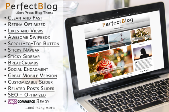 PerfectBlog – Beautiful, Clean and Fast WordPress Blog Theme
