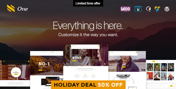 One - Business Agency Events & eCommerce Theme - Business Corporate