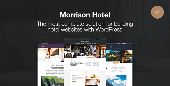 Morrison Hotel - Hotel Booking WordPress Theme - Travel Retail