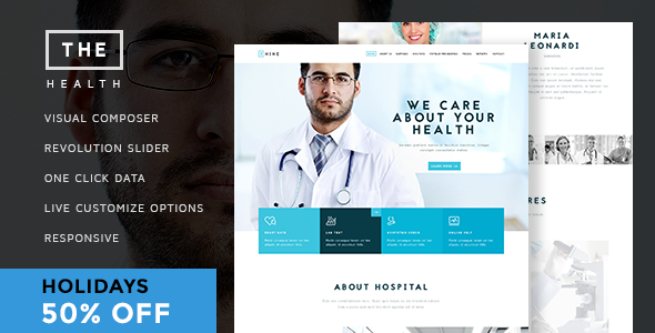 NRG Hospital – One & Multi page Health Theme