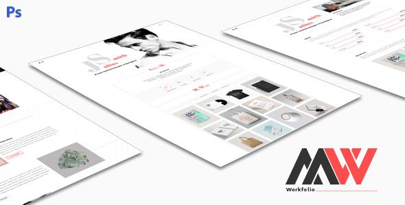 Workfolio - Personal Portfolio PSD Template - Portfolio Creative