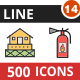 500 Vector Filled Line Icons Bundle (Vol-14) - GraphicRiver Item for Sale