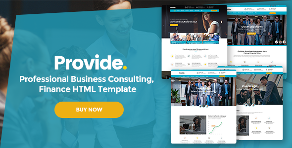 Provide – Professional Business Consulting, Finance HTML Template