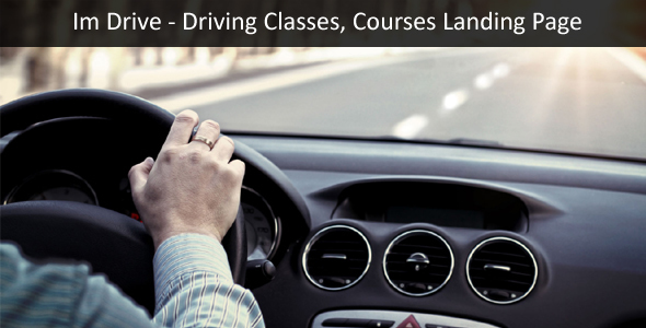 ImDrive – Driving School, Classes One Page WordPress Theme