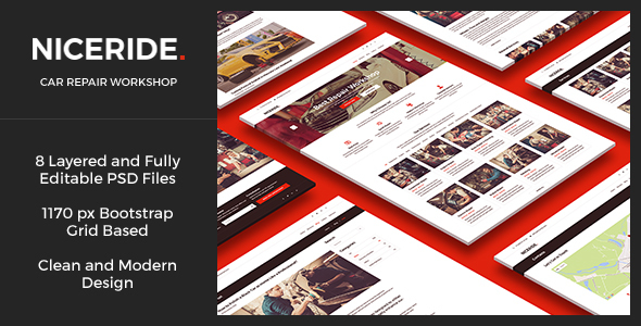 NICERIDE — Car Repair Workshop HTML Template