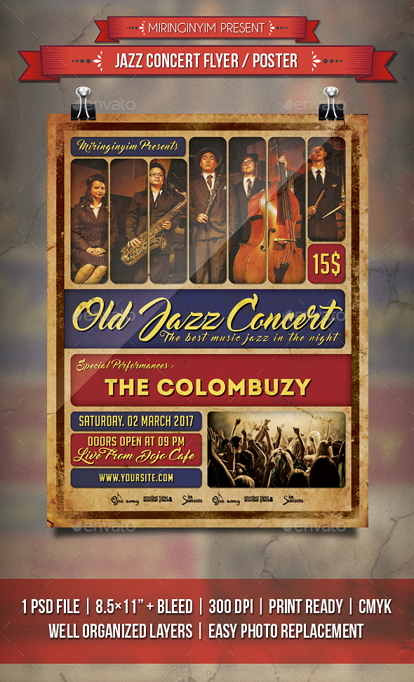 Jazz Concert Flyer / Poster - Events Flyers