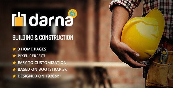 Darna – Building & Construction Drupal 8 Theme