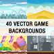 40 Vector Game Backgrounds with Tilesets - Horizontal and Vertical