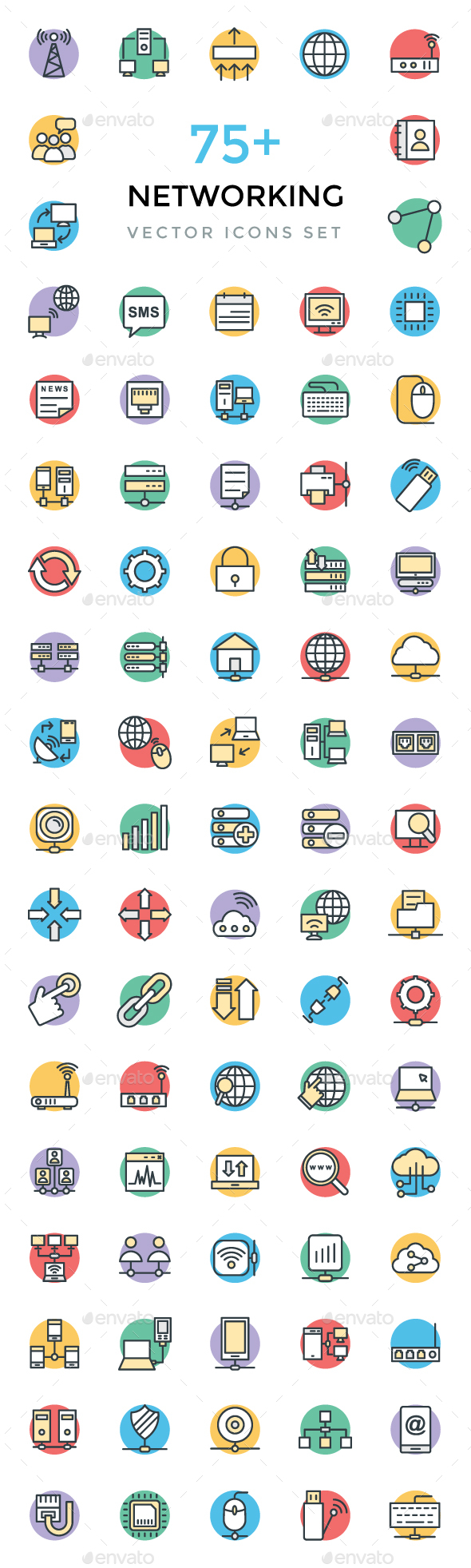 75+ Networking Vector Icons - Icons