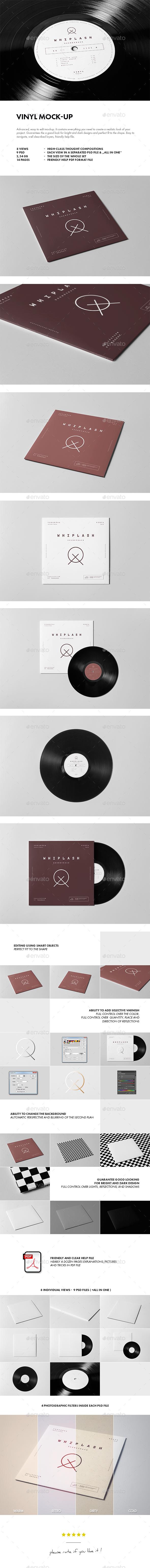 Vinyl Mock-up - Discs Packaging