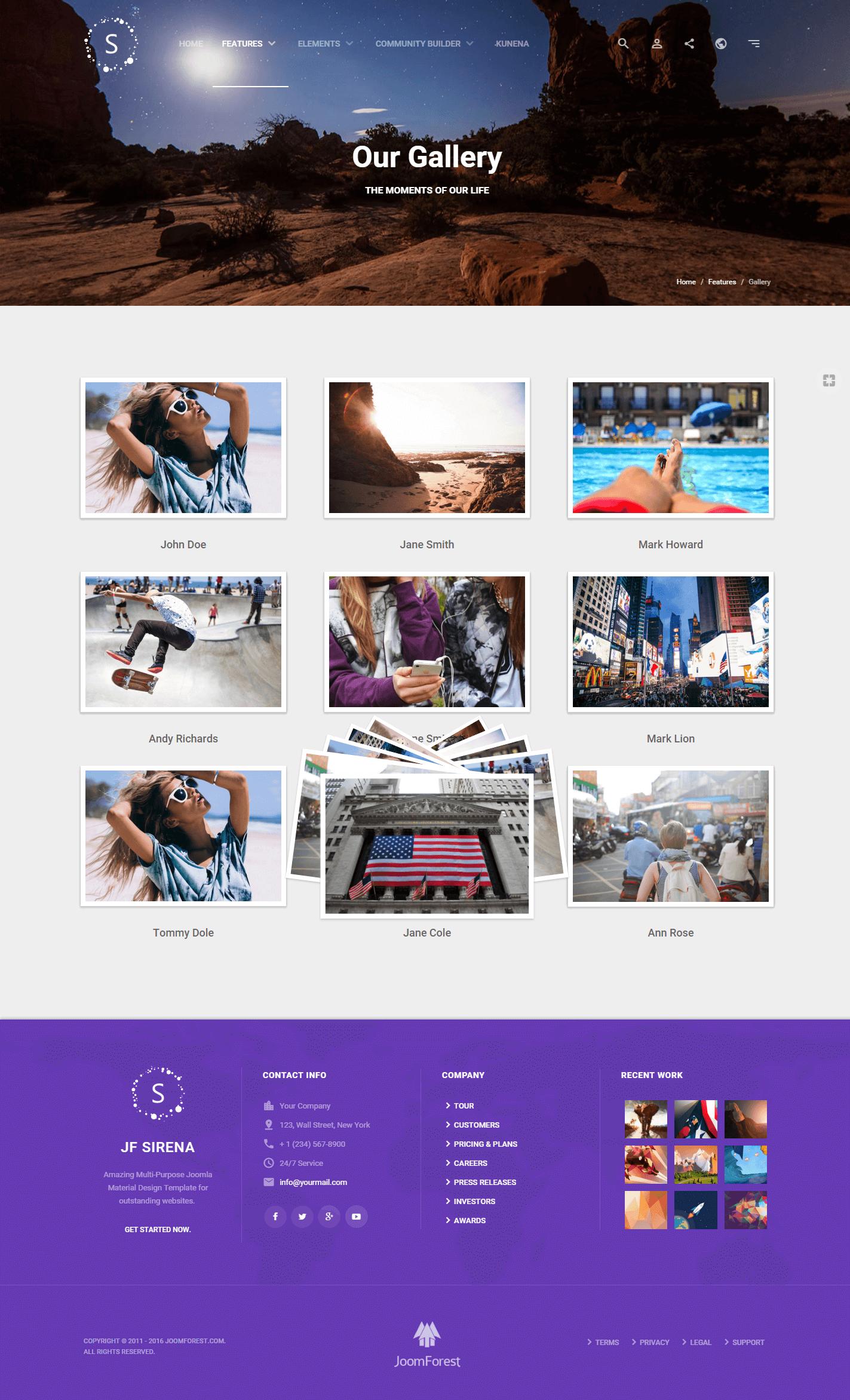 Sirena - Material Design Premium Joomla Template ...