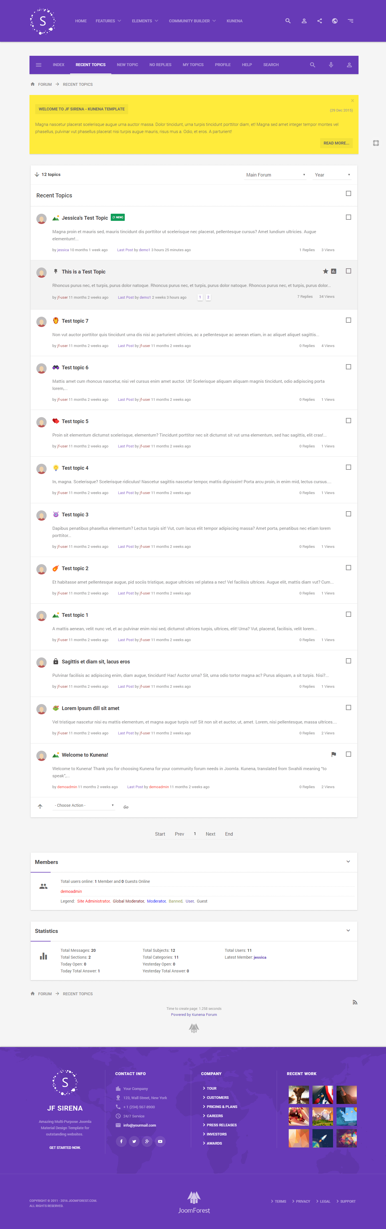 Snac Theme Template Websites