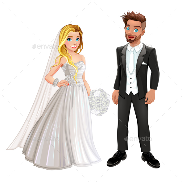 Bride and Groom in the Wedding Day - Weddings Seasons/Holidays