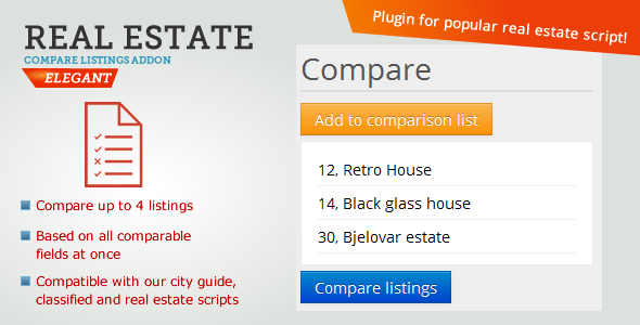 Real Estate Compare Listings - CodeCanyon Item for Sale