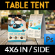 Cafe and Restaurant Table Tent Vol.7 - GraphicRiver Item for Sale