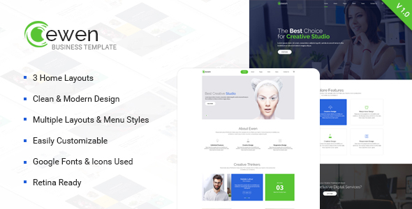 Ewen – Multipurpose Creative PSD