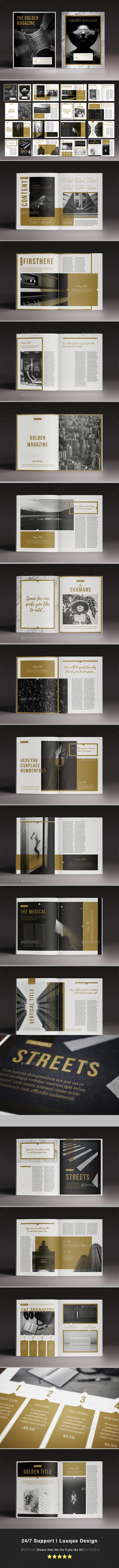 The Golden Magazine Template - Magazines Print Templates