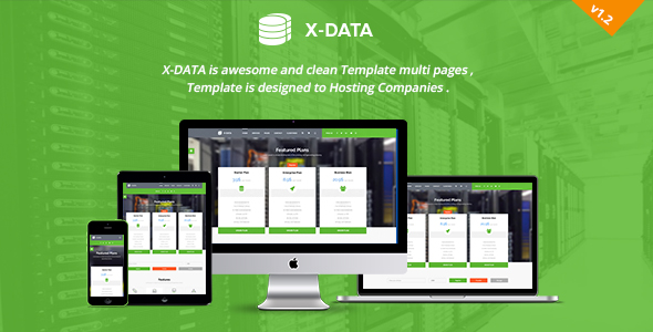 X-DATA - WHMCS & HTML Web Hosting Template