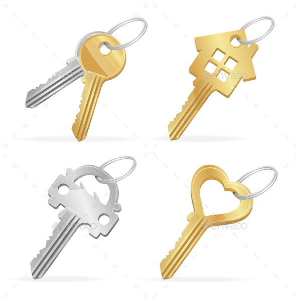 Different Keys Set. Vector - Objects Vectors
