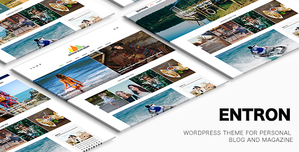 Entron  – WordPress theme for Personal blog and magazine