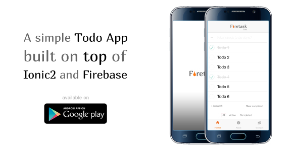 Firetask Lite – Ionic 2 Firebase Todo Application Template