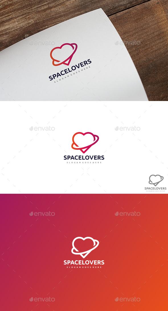 Space Love Logo - Symbols Logo Templates