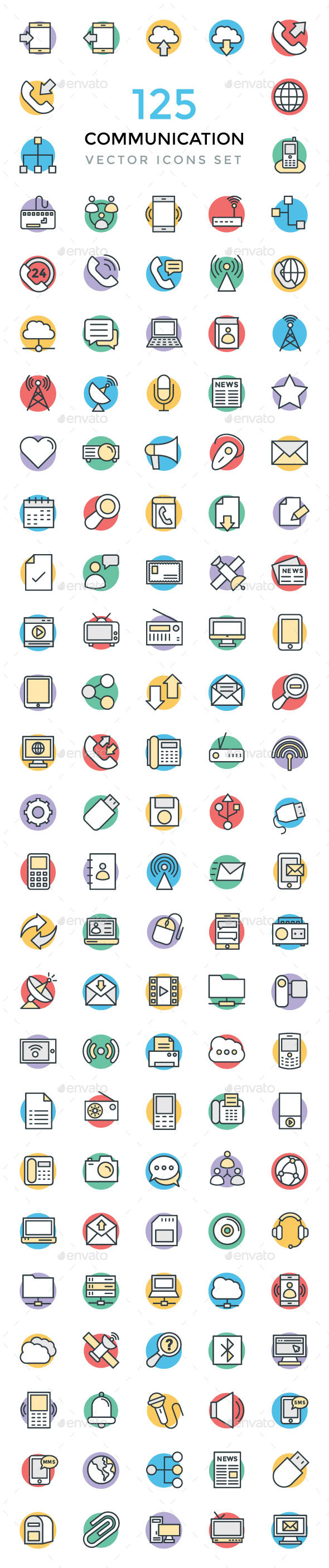 125 Communication Vector Icons - Icons